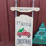 Sled - Merry Christmas with truck