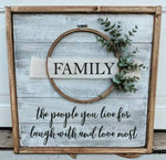 Farmhouse  Wreath sign - Family