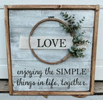 Farmhouse  Wreath sign - Love