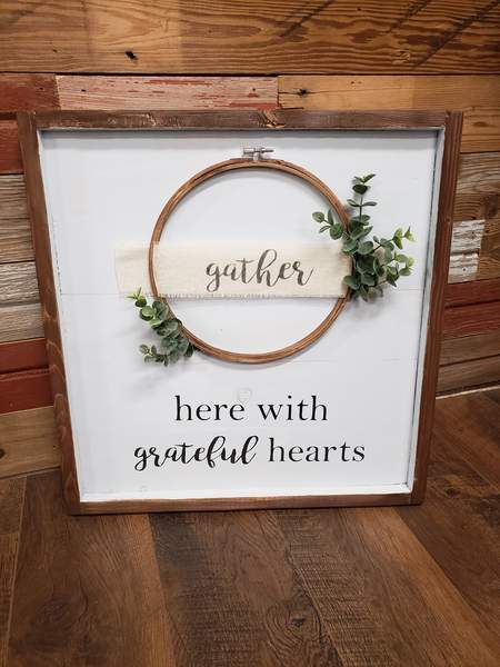 Farmhouse  Wreath sign - Gather