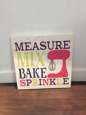 Measure Mix Bake Sprinkle