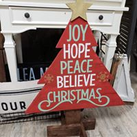 Christmas Tree - Joy Hope Peace