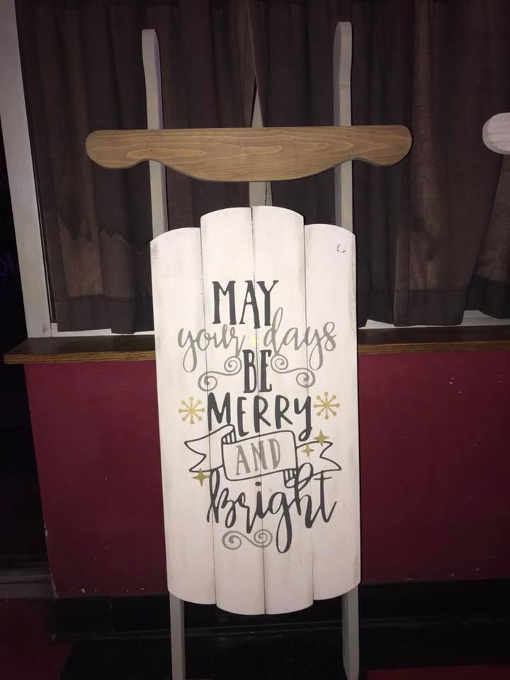 Sled - May your days be merry and bright