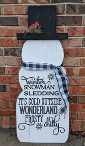 Snowman - Winter Snowman Sledding