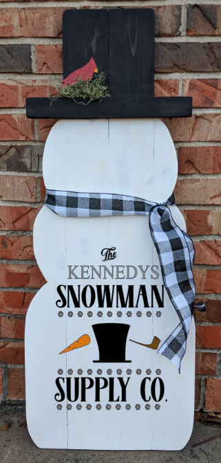 Snowman - Snowman Supply Co. with family name