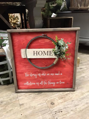 Farmhouse  Wreath sign - Home