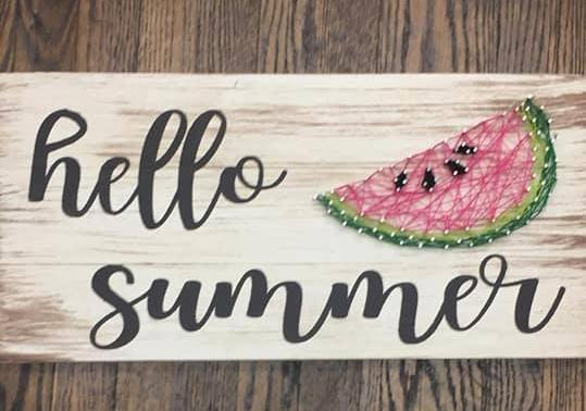 String Art - Hello Summer with Watermelon