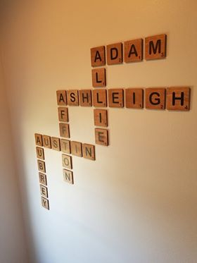 Scrabble tiles for Wall