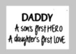 Fathers Day Tiles - Daddy a sons first hero