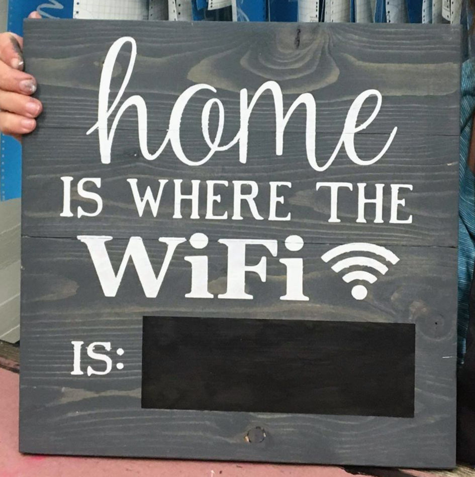 Home is where the wifi is: - Chalkboard password