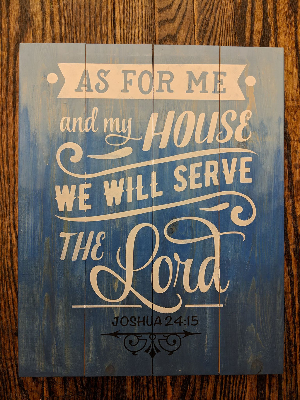 As for me and my house we serve the Lord-banner