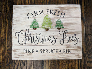 String Art  - Farm fresh Christmas trees