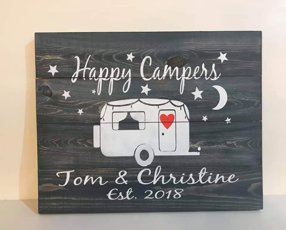 Happy Campers couples name and est date