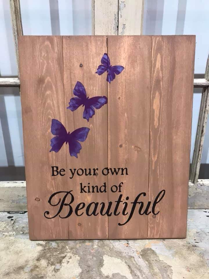 Be your own kind of beautiful with butterflies