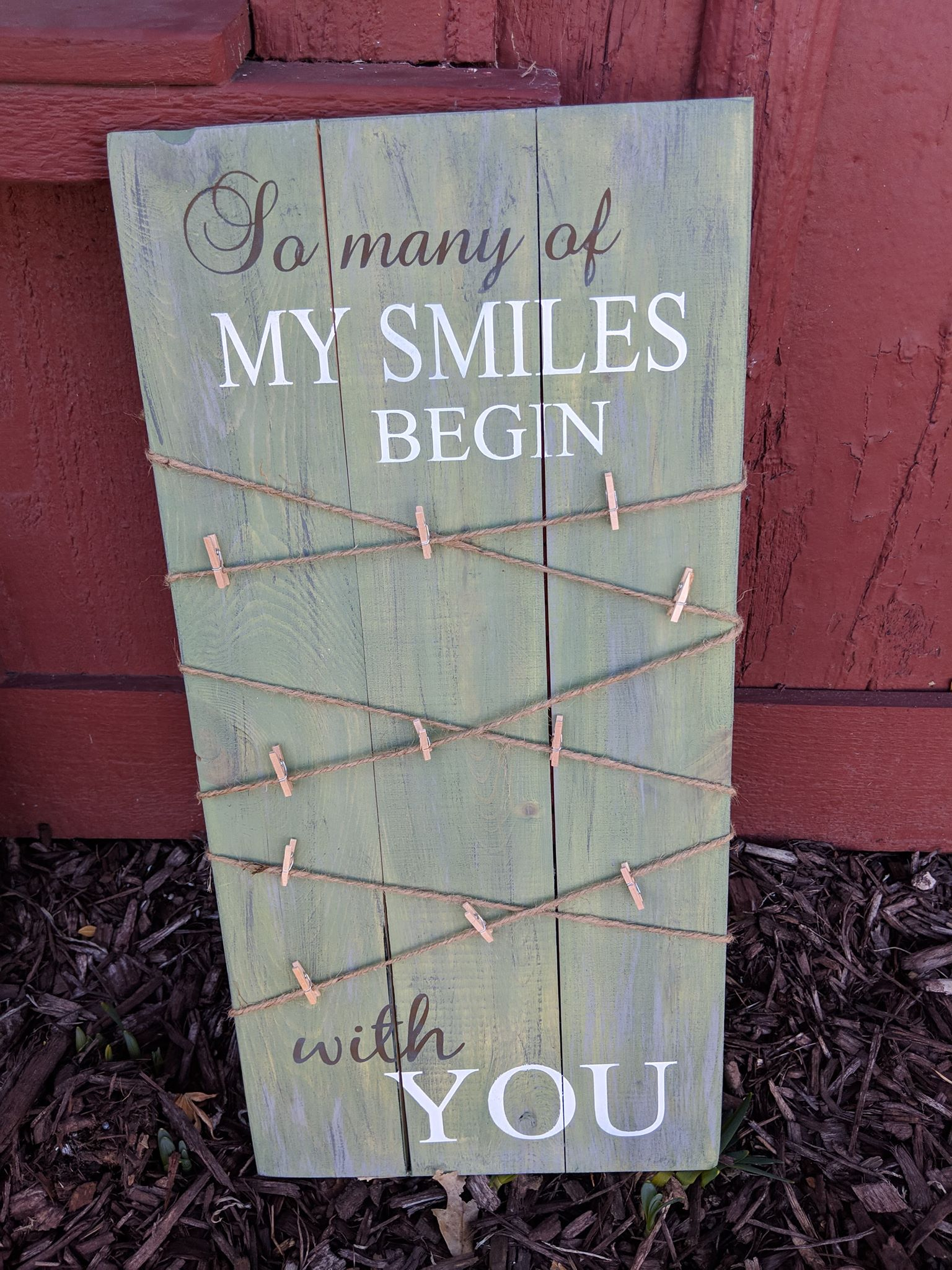So many smiles begin with you - Photo Board