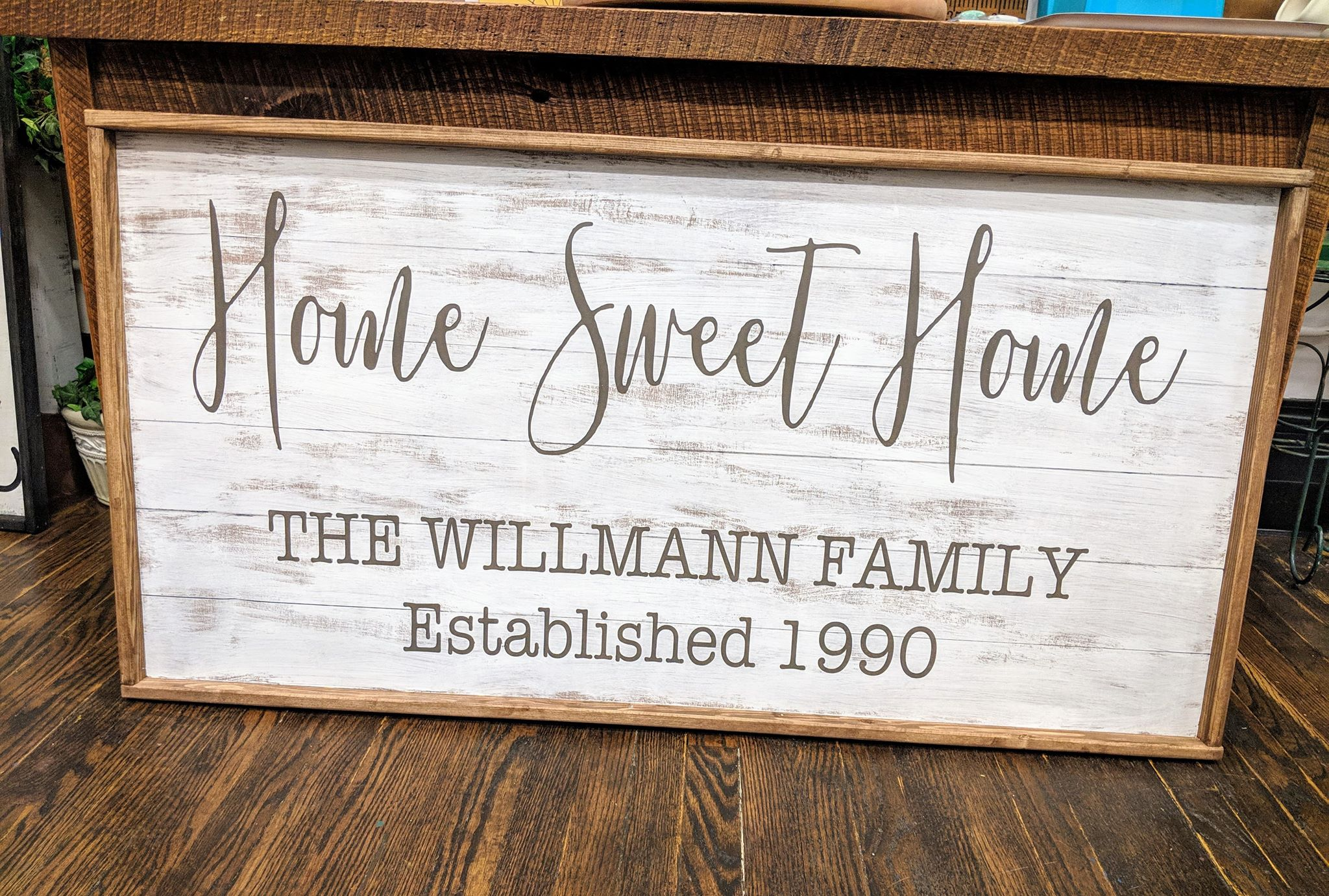 Oversized sign - Home Sweet Home Family name Est date