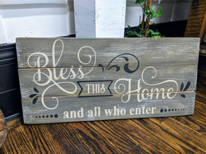 Bless this home and all who enter-swirly
