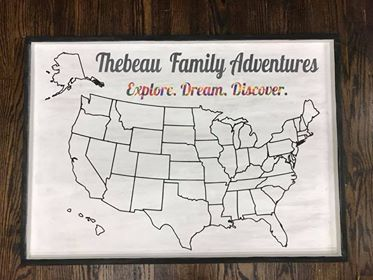 Oversized Family Adventures-Explore Dream Discover Map 18x30