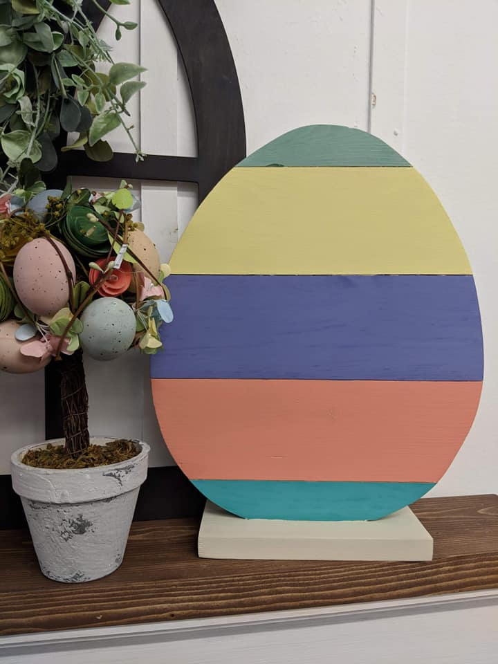 Spring Connection Easter Egg with stand