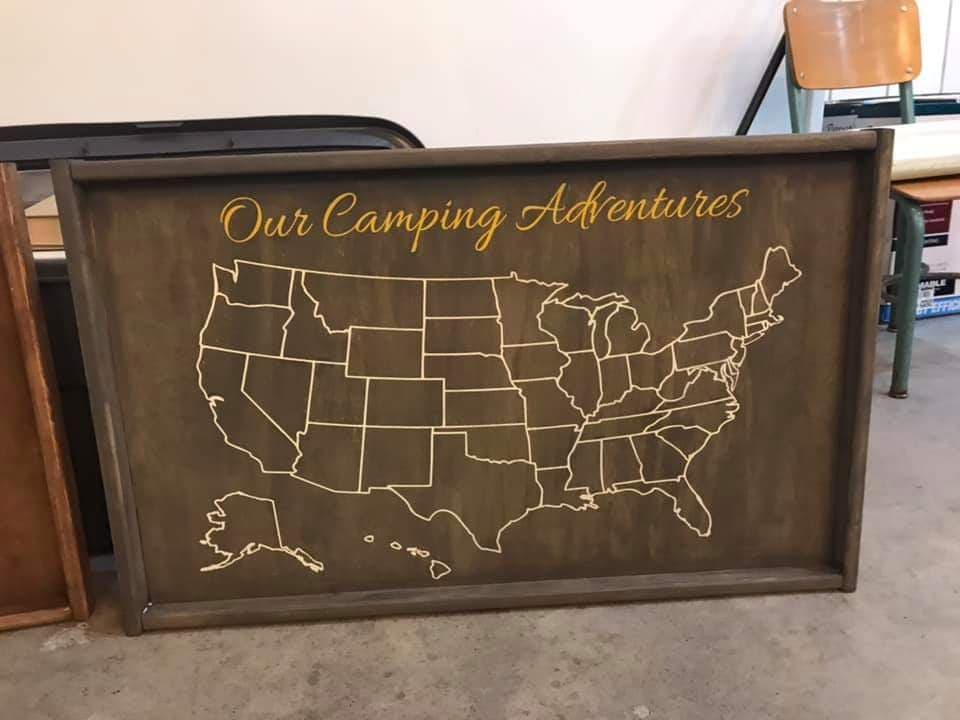 Oversized Our Adventure Map with names 18x30