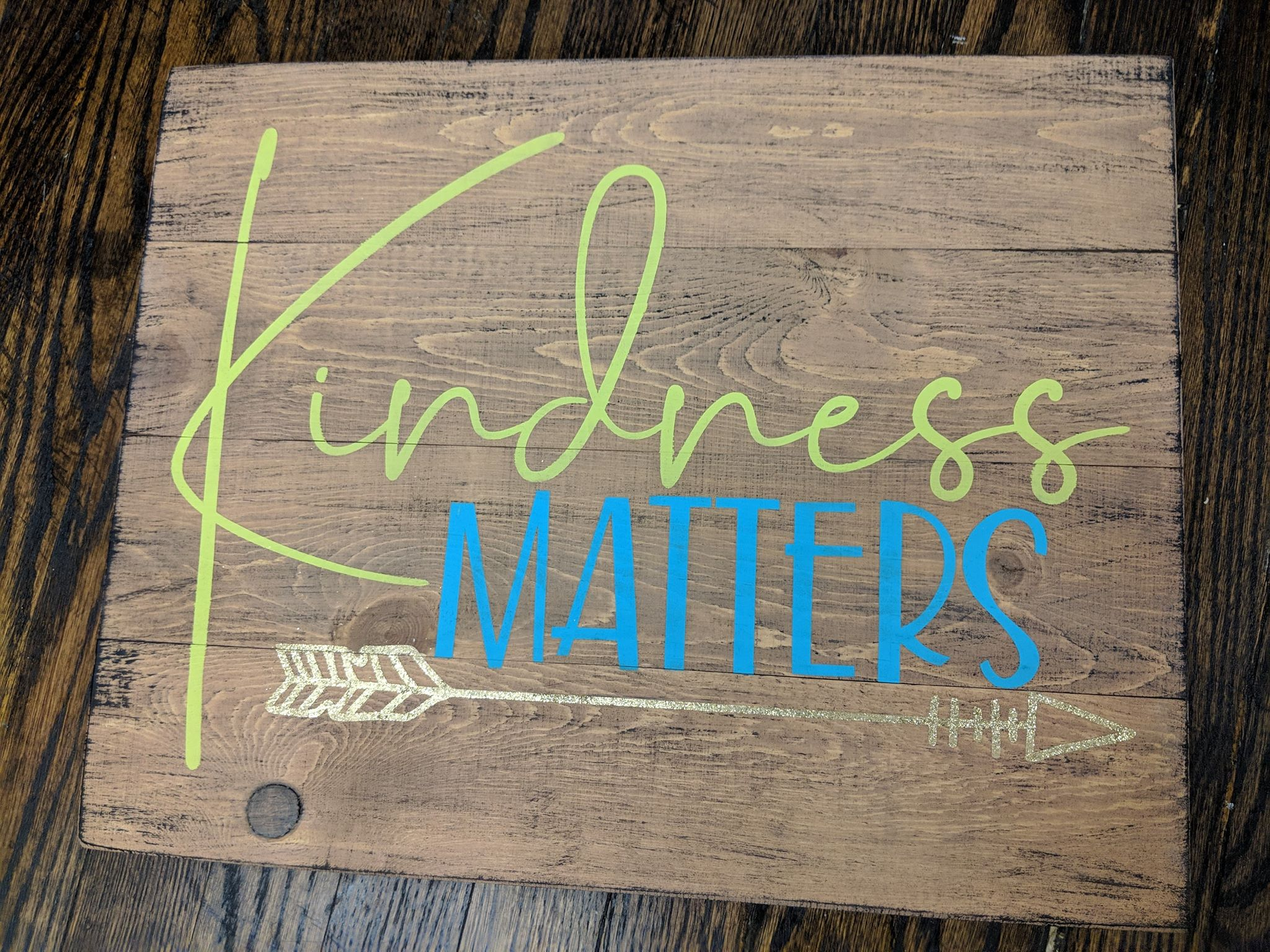 Kindness matters with arrow