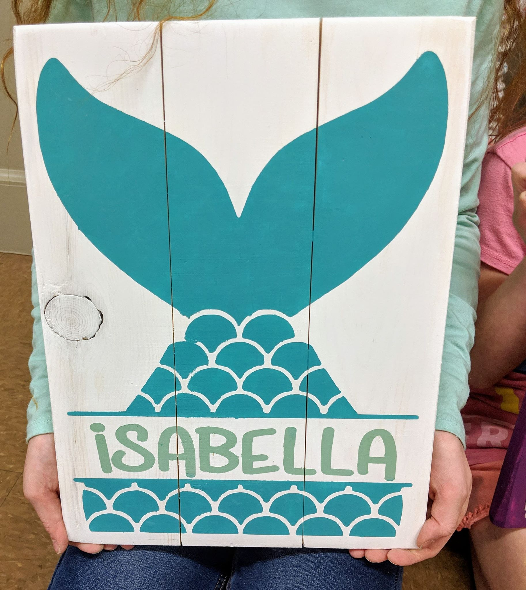 Mermaid tail with name