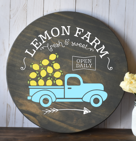Lemon Farm with truck ROUND