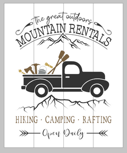 Mountain rentals with truck