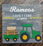 3D Seasonal interchangeable Family name Tractor 17x17