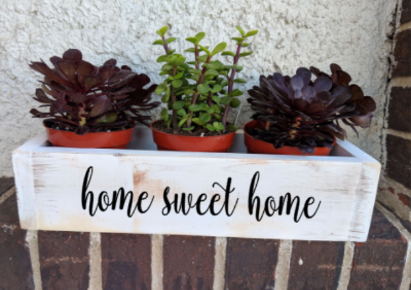 Succulent Planter Box-home sweet home