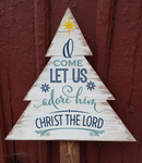 Christmas tree - O come let us adore him Christ the Lord