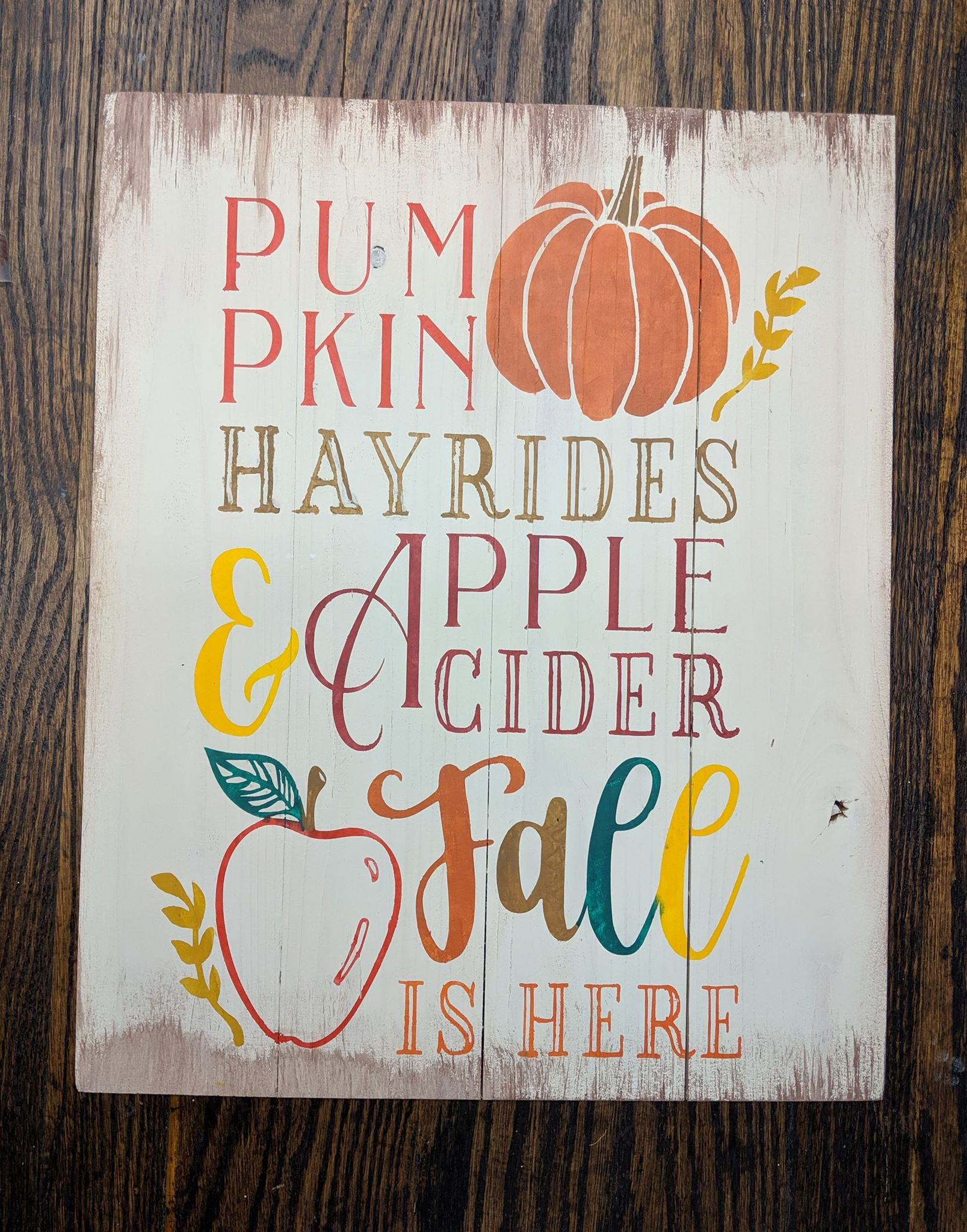 Pumpkin hayrides and apple cider Fall is here