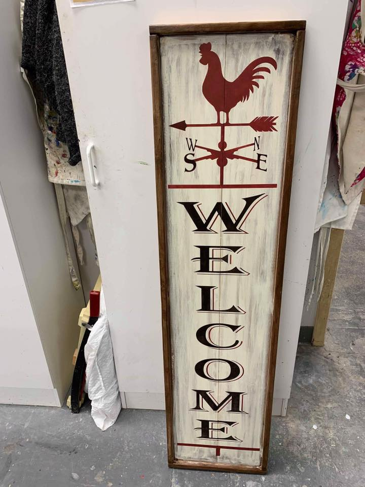 Welcome Rooster weathervane