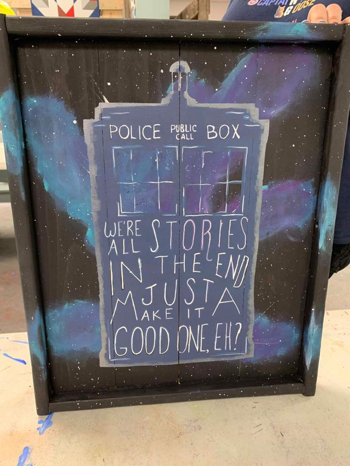 Police box Dr. who