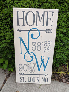 Home Coordinates City and State