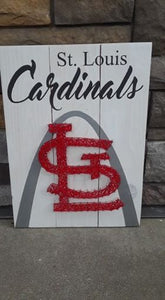 String Art  - Stl Cardinals with arch