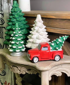 Vintage Style Ceramic Holiday Truck