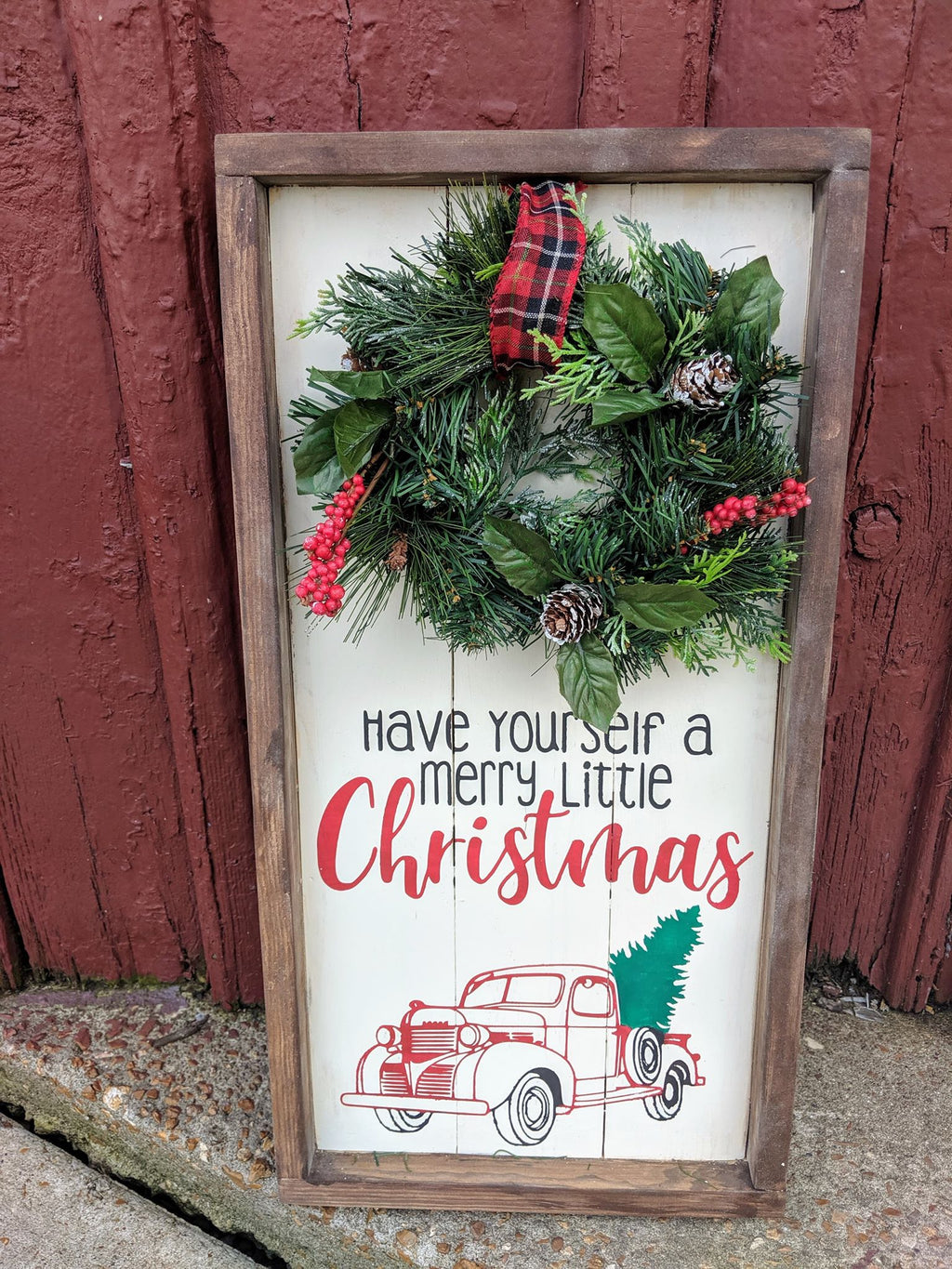 Farmhouse  Wreath sign - Have yourself a Merry little Christmas
