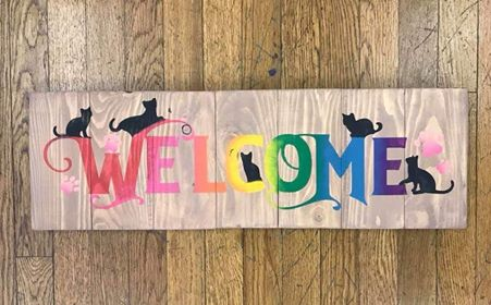 Welcome with cats