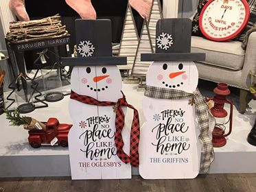 Snowman - There's no place like home with family name