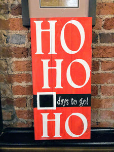 Ho Ho Ho days to go - chalkboard