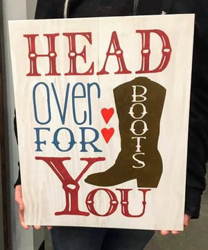 Head over boots for you-with boot