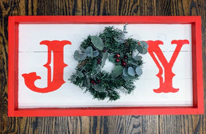 Farmhouse  Wreath sign - Joy