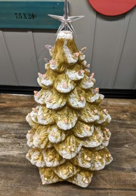 Vintage Style Ceramic Christmas Trees Large