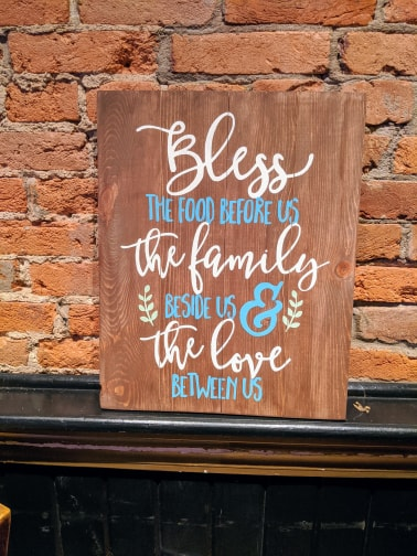 Bless the food before us the family beside us and the love before us