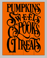 Pumpkins sweets spooks and treats