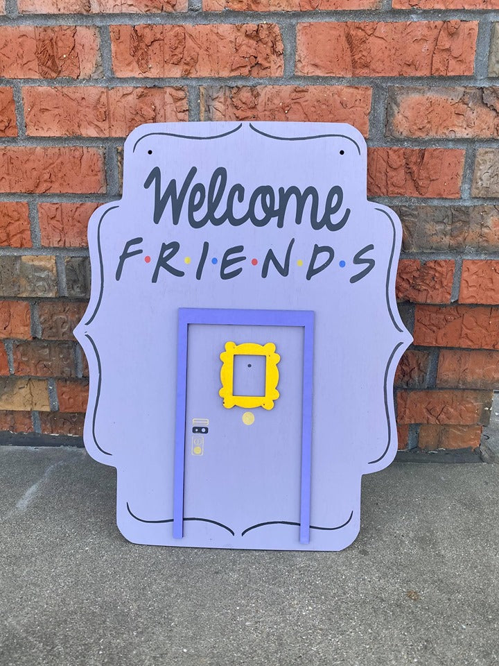3D Door hanger Scalloped FRIENDS door