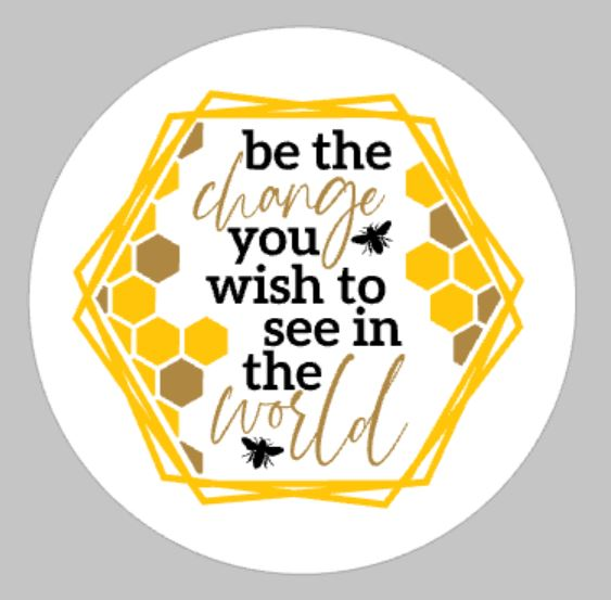 Be the change you wish to see in the world with bees
