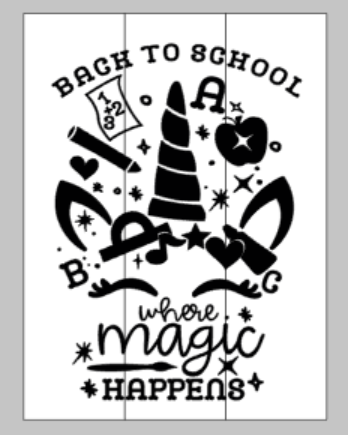 Back to school when magic happens with unicorn