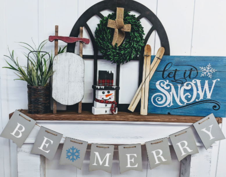 Banner - Be Merry with snowflake